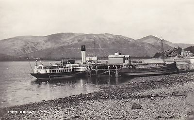 "CLYDE STEAMER PS""Duchess of Fife"" + CLYDE PUFFER at KILMUN PIER Dunoon Kirn"