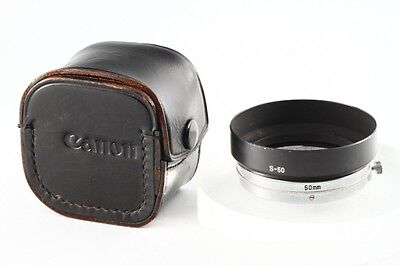 """""""MINT"""" Canon Vintage Lens Hood w/Case 50mm For Canon 50mm f 1.4 LTM39, From JP#2"""