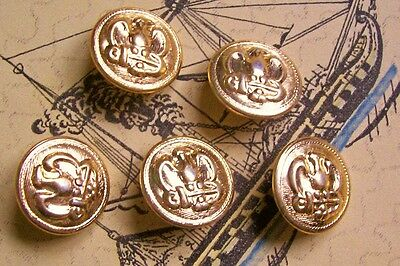 5 gilded metal 'American Civil War' emblem buttons  23 mm. diameter