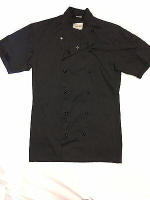 Very Good Condition Short Sleeve Black Chefs Jacket, Select Size,xs-S-M-L-Xl-Xxl
