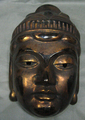 Real Japanese Buddhism Mask Dainichiten Buddha Head made in Showa Era