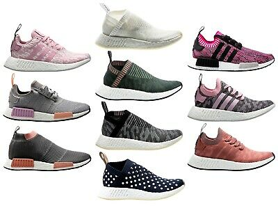 adidas Womens NMD_R1 Sleek Knit Flat Boost EVA Sole