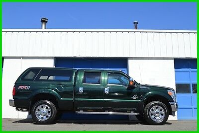 2012 Ford F-350 Lariat Super Crew Cab Power Stroke 4X4 4WD Loaded Repairable Rebuildable Salvage Runs Great Project Builder Fixer Easy Fix Save
