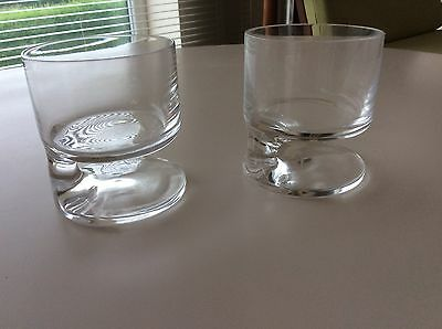 Joe Colombo 'Smoke' Glass  Whisky Glasses (pair)