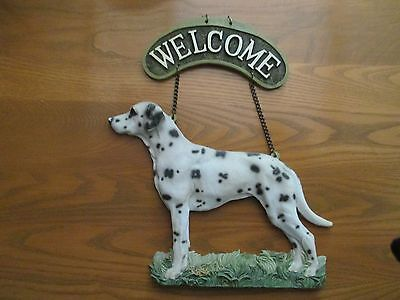 Resin Dalmatian Welcome Sign