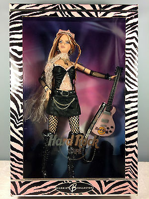 2004 Hard Rock Cafe Barbie Doll #2 - Black Leather with Pink Guitar - NRFB