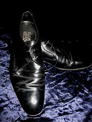 Vintage Salvatore Ferragamo Italian Black Leather Men's Dress Shoes*9D