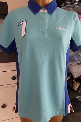 Musto Ladies Gorgeous Polo Shirt Size 10 - Sky Blue - Brand New! Bargain!