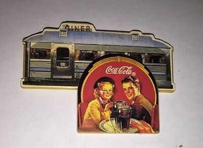 Vintage Coca Cola Diner magnet with smiling couple
