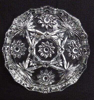 "Anchor Hocking Star of David 8"" ashtray"