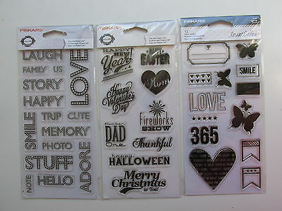 Fiskars Clear Rubber Stamps Lot 1