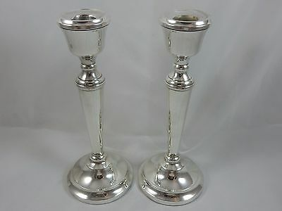 PAIR, solid silver CANDLESTICKS, 1979