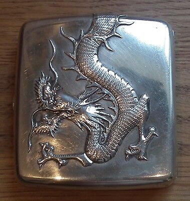 Stunning Heavy Gauge 19Th Century Chinese Export Silver Cigarette Case