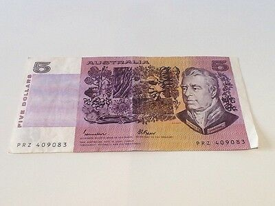 Australia, 5 Dollars. Phillips-Wheeler, PRZ 409083