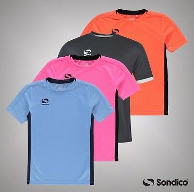 Junior Boys Branded Sondico Football Training Fundamental T Shirt Size Age 7-13
