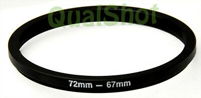 Step-down adapter ring 72-67mm 72mm-67mm Anodized Black