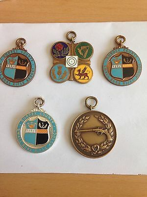 5x small bore rifle association medals