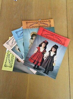 Costume Cameos Pattern Books French Fashion Doll Dress Parasol Bonnets (5) New