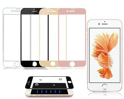 New Genuine Coloured 3D 9H Tempered Glass Screen Protector For Apple iPhone 7