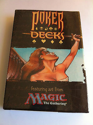 Magic The Gathering Poker Decks Contents 2 52 Card Decks Sealed Mint
