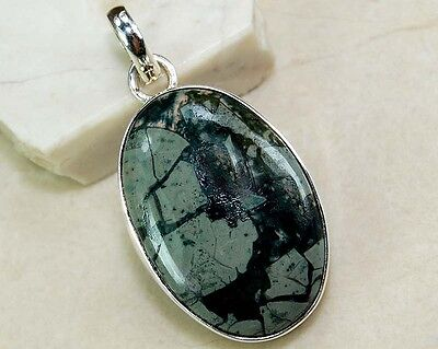 Green Opalite 925 Solid Genuine Sterling Silver Pendant Jewelry, S16-7
