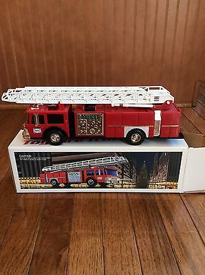 HESS 1986 Toy Fire Truck Bank - original box, MINT Condition