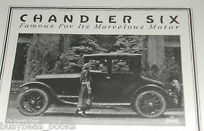 1920 Chandler Motor Car advertisement, CHANDLER SIX 4-passenger coupe