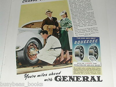 1939 General Tire ad, Squeegee Tires, color