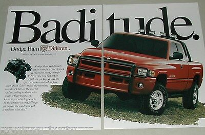 2000 Dodge 2-page ad, Dodge Ram pickup truck