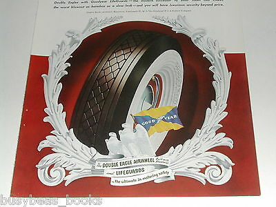 1940 Goodyear Tire ad, Double Eagle whitewall tires