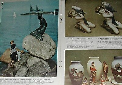 1949 magazine article about DENMARK, post WWII visit, people, history etc