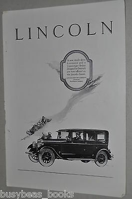 1926 Lincoln advertisement, Lincoln large sedan, chauffeur, tobogganing