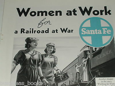 1943 Santa Fe RR advertisement, Woman workers, WWII home front labour
