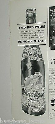 1931 White Rock Water ad, White-Rock nymph on bottle
