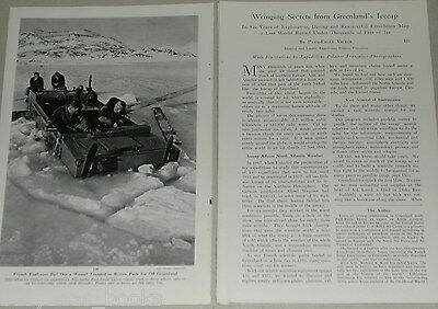 1956 magazine article about Geological Exploration of GREENLAND'S Icecap