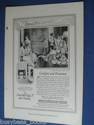 1921 American Radiator Co advertisement, household boilers rads, womans party