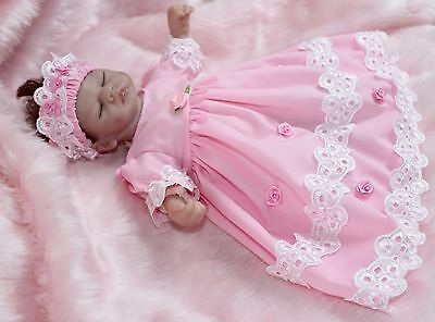 """Dress 2 Piece Clothes Set Suit 10"""" Reborn Baby Dolls Tiny Miracle Hand Made"""