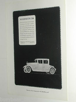 1920 Marmon 34 advertisement page, Nordyke & Marmon Co antique automobile
