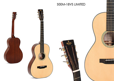 SIGMA GUITARS - Gitarre S00M-18VS LIMITED VOLLMASSIV  + original Sigma-Koffer