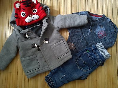 43x WINTER NEW USED BUNDLE OUTFITS BABY BOY 9/12 M PHOTOS IN DESCRIPTION(6.5)