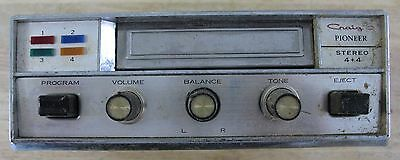 Craig Pioneer Car Stereo 8 Track 4 + 4 Tape Player 3104A chrome