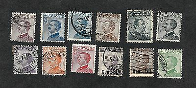 Italy : Selection of used stamps from 1906 (Lot76)