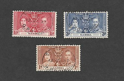 Gambia stamps Coronation 1937 used (Lot28)