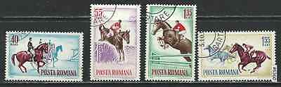 #6360 ROMANIA Sc#1631-4 Set CTO Horse Show Events
