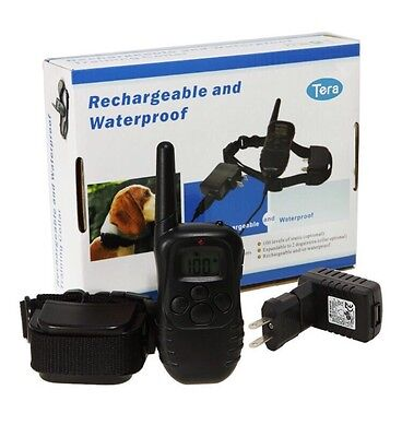 300M Electric Shock Dog Training Remote Control E-Collar Rechargeable