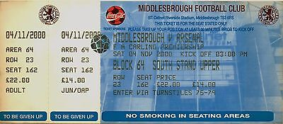 MIDDLESBROUGH v ARSENAL.  04/11/2000.