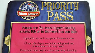 Alton Towers Theme Park Resort - Priority Ride Access Pass For TWO People