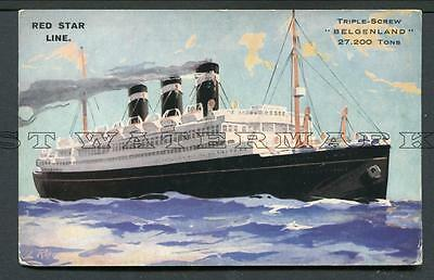 "Col Pc Red Star Line ""belgenland"" C1929-32"