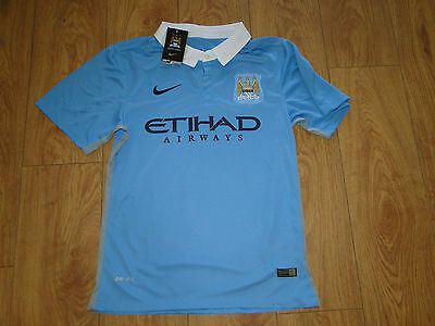 Manchester City nwts mens nike football shirt size small kun aguero on the back