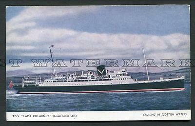 "Coloured Pc -- Coast Lines ""lady Killarney"" - Cruising In Scottish Waters"